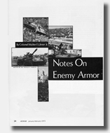 Armor Article 1973 by General Walter Ulmer Article About Enemy Armor during Vietnam War