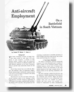 Armor Article 1974 by General Walter Ulmer about Vietnam War Aircraft Employment