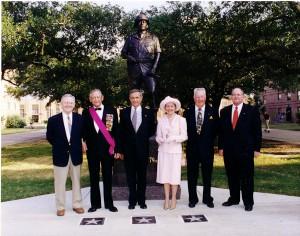 Gen Hollingsworth at Texas A&M Statue Dedication
